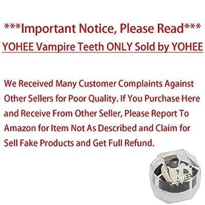 YOHEE Cosplay 13mm Vampire Teeth Dentures Halloween Party Props Fangs from YOHEE