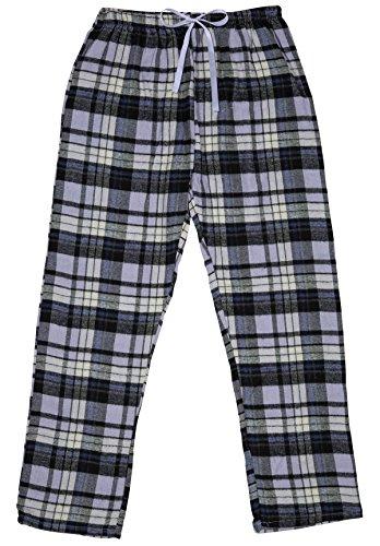 North 15 Girls%100 Cotton Yarn-Dyed, Plaid Soft Flannel Pajama Pants-L1322G-Design5-8 Lavender