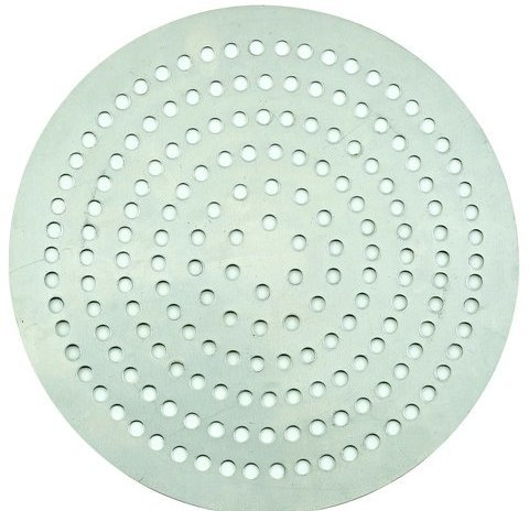 Winco APZP-7SP, 7-Inch Super-Perforated Aluminum Pizza Disk with 72 Holes, Pizza Screen (Aluminum Disk Bottom)