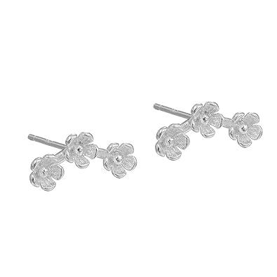 IIOOII Women's Elegant S925 Sterling Silver Earrings Sparkling Hoop Earring WNqGDOOMEW
