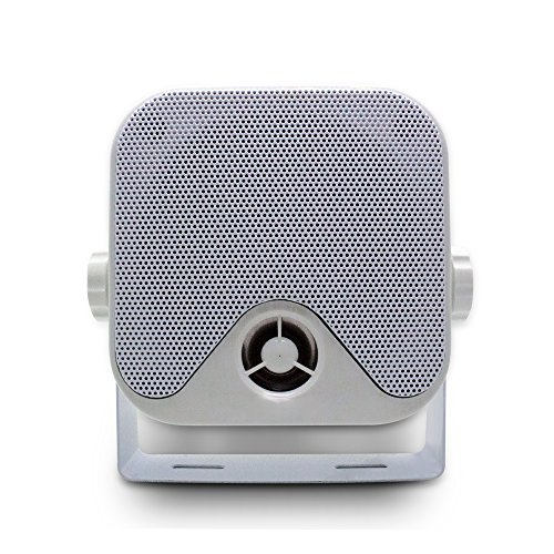 "4"" Waterproof Boat Marine Box Outdoor Speakers Surface Mounted for Boat Motorcycle ATV UTV RZR Golf Cart Powersports Truck - White"