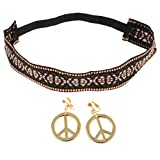 Costume Headband With Peace Signs