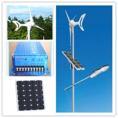 Best Cheap Deal for GOWE 400w wind generator+200w solar panel +wind solar hybrid controller off grid supply power for 50w 60w 80w 90w LED street lights from Gowegroup - Free 2 Day Shipping Available