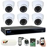 GW Security 8 Channel DVR 2TB HDD CCTV 5MP Video & Audio Surveillance Security Camera System - 6 x 5MP HDTVI Weatherproof Microphone Dome Cameras