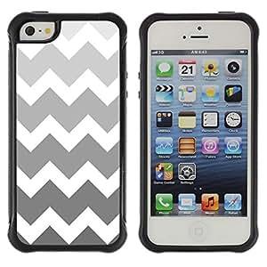 Jordan Colourful Shop@ Black White Silver Chevron Pattern Rugged hybrid Protection Impact Case Cover For iphone 5S CASE Cover ,iphone 5 5S case,iphone5S plus cover ,Cases for iphone 5 5S