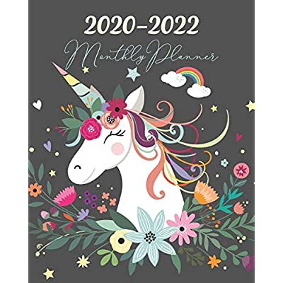 Unicorn Calendar 2022.Buy 2020 2022 Monthly Planner Three Year 36 Months Calendar Agenda Monthly Weekly Yearly Notebook Planner Organizer Schedule With Inspirational Quotes And Holidays Unicorn Floral Paperback December 6 2019 Online In Kuwait 1672213290