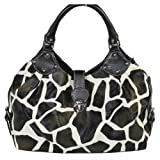 FASH Limited Giraffe Print Hobo Style Handbag, Top Dual Handle, One Size