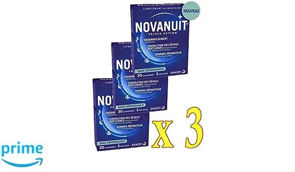 novanuit sueño triple action - Pastillas sin Dioxide de titanio - 3 ...