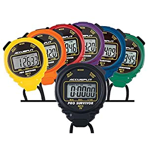ACCUSPLIT A601X Pro Survivor Rainbow Plus One Stopwatches(6 Pack), Assorted colors