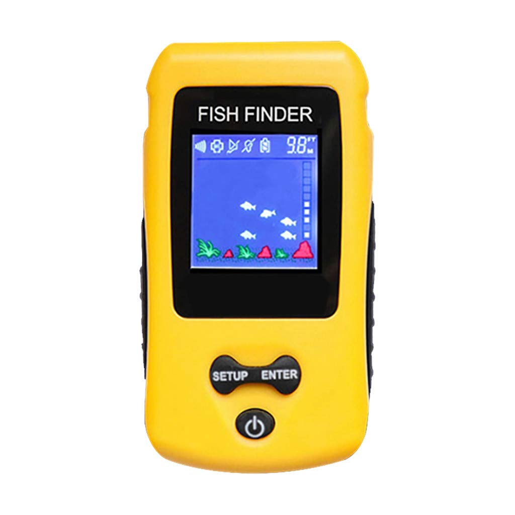 1KTon Freshwate-r Fish Finde Saltwater Electric Boat Fishing Depth Locator Tracke-r by 1KTon