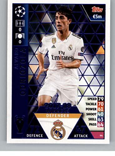 2018-19 Topps UEFA Champions League Match Attax #44 Alvaro Odriozola 17-18 Real Madrid Winners Official Futbol Soccer Card