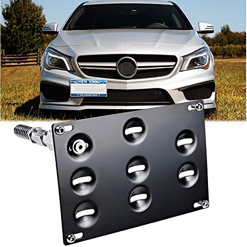 - GTP Tow Hook License Plate Mounting Bracket for Mercedes GLA W204 W205 C-Class W212 W213 E-Class GLK GLC W166 ML GLE Class, No Drilling Front Bumper Tow Hole Relocation Kit