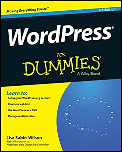 Wordpress For Dummies Lisa Sabin Wilson 9781119088578 Amazon Com