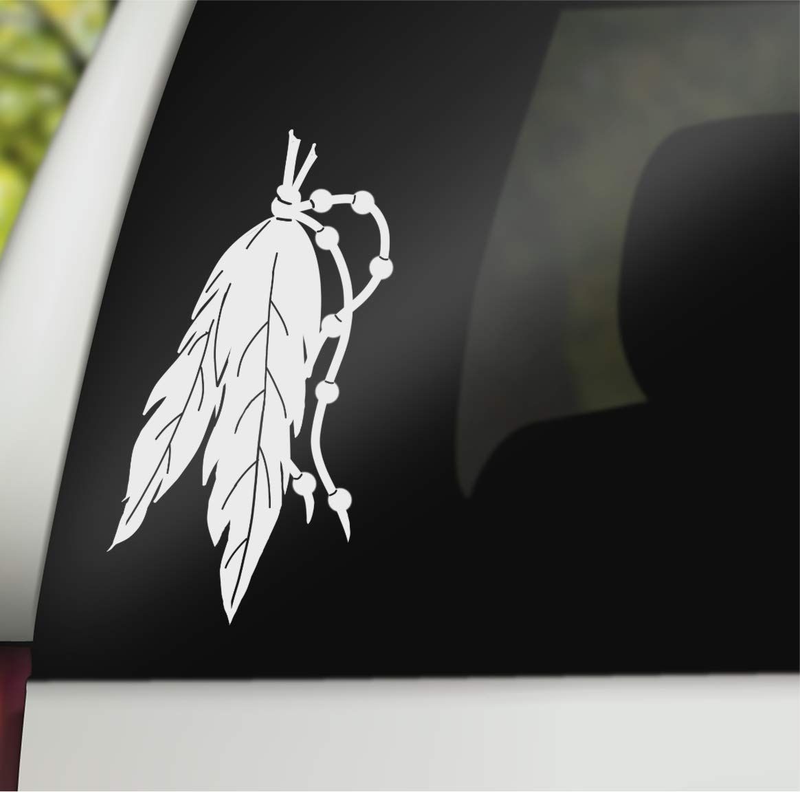 Walls Trucks 11.5 White Laptops SmartKastic Car Tats NATIVE FEATHERS Vinyl Decal Window Sticker for Cars Windows