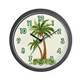 CafePress – Twin Palms – Unique Decorative 10″ Wall Clock For Sale