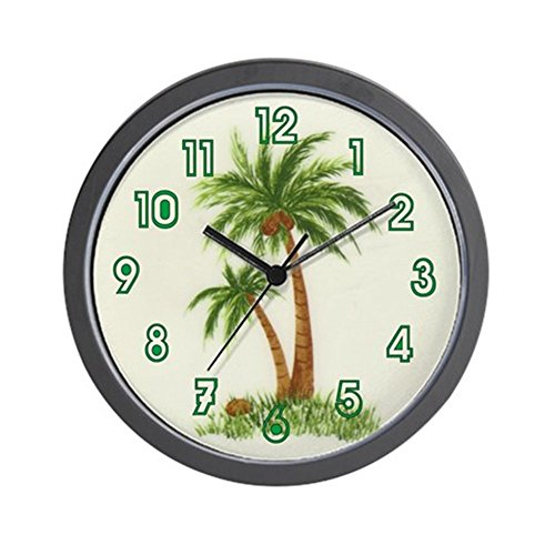 CafePress – Twin Palms – Unique Decorative 10″ Wall Clock For Sale