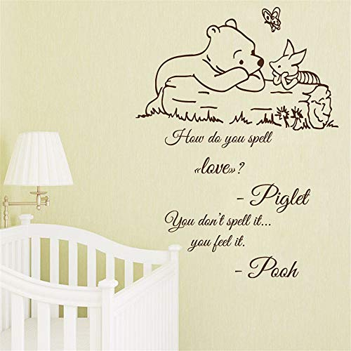 How Do You Spell Halloween (Wall Decal Quote Winnie The Pooh Decals Kids How do You Spell Love Vinyl Wall Sticker Nursery Decor for)