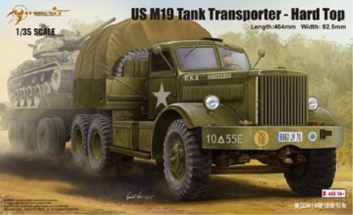 MRT63501 1:35 Merit US M19 Tank Transporter with Hard Top Cab MODEL KIT by Merit International - Tank Transporter