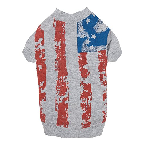 Zack & Zoey America's Pup Flag-Print Tee Shirt for Dogs, 24