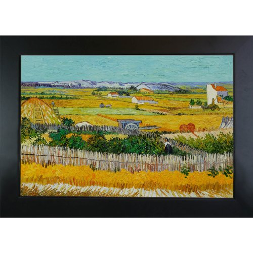 Van Gogh Harvest Vincent (overstockArt The Harvest with New Age Wood Frame Oil Painting by Van Gogh)