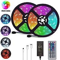 LED Strip Lights, 32.8ft/10M 5050 RGB 300 LEDs Strip Lights Non-Waterproof Rope Lights Color Changing Tape Light Kit…