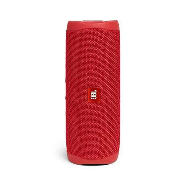 JBL Flip 5 Enceinte Bluetooth Portable avec Batterie Rechargeable, Étanche, Compatible Siri et Google, Rouge 1