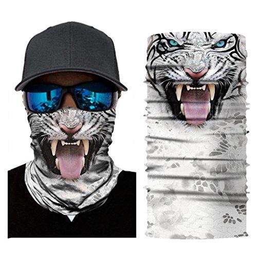 Auwer 3D Stretchable Face Shield Mask Guards Balaclava Headwear for Camping, Cycling, Biking, Motorcycling, Fishing, Hunting, Sun UV Protection (B-4)