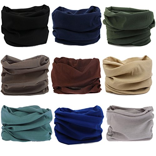 Mens Winter Scarves - NEXTOUR Neck Gaiter Headwear Headband Head Wrap Scarf Mask Neck/Ear Warmers Headbands Perfect for Winter Fishing, Hiking, Running, Motorcycle etc& Daily Wear for Men and Women
