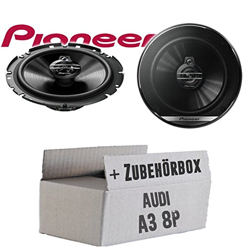 Einbauset f/ür Audi A3 8P Lautsprecher Boxen Pioneer TS-G1730F JUST SOUND best choice for caraudio 16cm 3-Wege Koax Paar PKW 300WATT Koaxiallautsprecher Auto Einbausatz