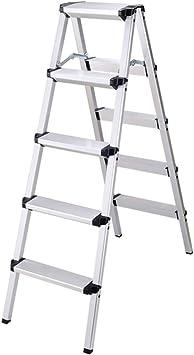 Escalera de aluminio liviana con peldaños y escalones Escalera con peldaños plegables con antideslizante Escalera de pedales ancha resistente y de doble lado para fotografía, hogar y pintura Capacidad: Amazon.es: Bricolaje y