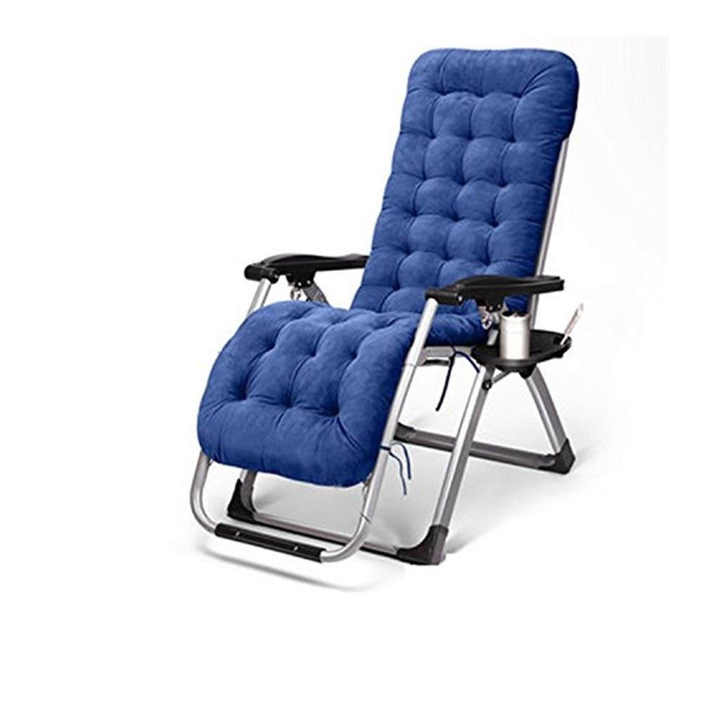 YYTLTY Reclining Lawn Chairs,Folding Chair Lounge Chairs, Siesta Chairs, Available in All Seasons,Five Colors are Available,Foundation Load Capacity 150kg (Color : Blue) by YYTLTY