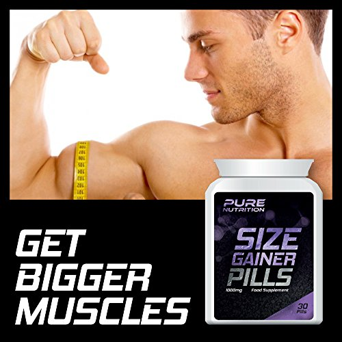 PURE NUTRITION SIZE GAINER PILLS - WEIGHT GAINER PILL GET BIGGER MUSCLES BULKING