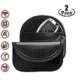 Faraday Bag for Key Fob (2 Pack), Premium Faraday Cage Car Key Protector–RFID Signal Blocking, Anti-Theft Pouch, Anti-Hacking Case Blocker (Black)