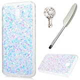 For Samsung Galaxy J5 2017 Case,Badalink Galaxy J5 2017 Cover Bling Glitter Sparkly Hybrid Solid Acrylic Hard Back with Shock Absorption TPU Bumper Frame Ultra-Slim Anti-Scratch Protective Cover for Samsung Galaxy J5 2017 Case /J530Light purpl
