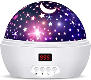 Starry Sky Night Lamp for Kids Gifts for 3 4 5 6-12 Year Old Girls Baby Star Projector Night Light with Timer Rotating Projection Lamp Ceiling Stars Glow in The Dark