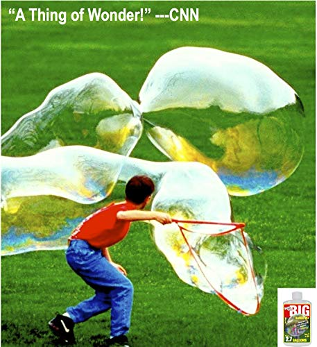 Bubble Thing BIG BUBBLES Wand and Mix - MAKES 2.7 GALLONS! - Bubbles Biggest, Costs (Bubble Wand)