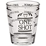 True Fabrications Glass Printed Measured Shot Glass, Clear - 400