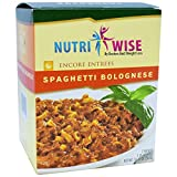 NutriWise - High Protein Diet Entree | Spaghetti Bolognese | Low Calorie, Low Fat, Sugar Free (7/Box)