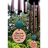 Ships in 24 hours Memorial Wind Chime Sympathy Gift After Loss PRIME Rush Shipping for Funeral Loss in Memory of Loved One Copper Listen to the Wind Memorial Garden Remembering a loved one