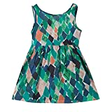 Kingspinner Girls Dress Summer Sleeveless Floral Print Strap Princess Dress Sundress Beach Dresses (Green, 18-24 Months)