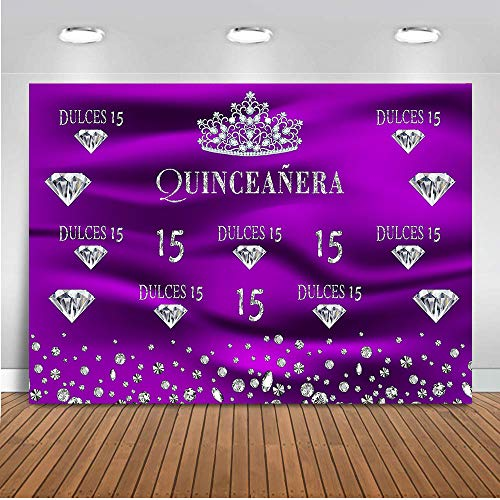 (COMOPHOTO Birthday Party Backdrop for Photography Sweet 15 Theme Parties Background for)