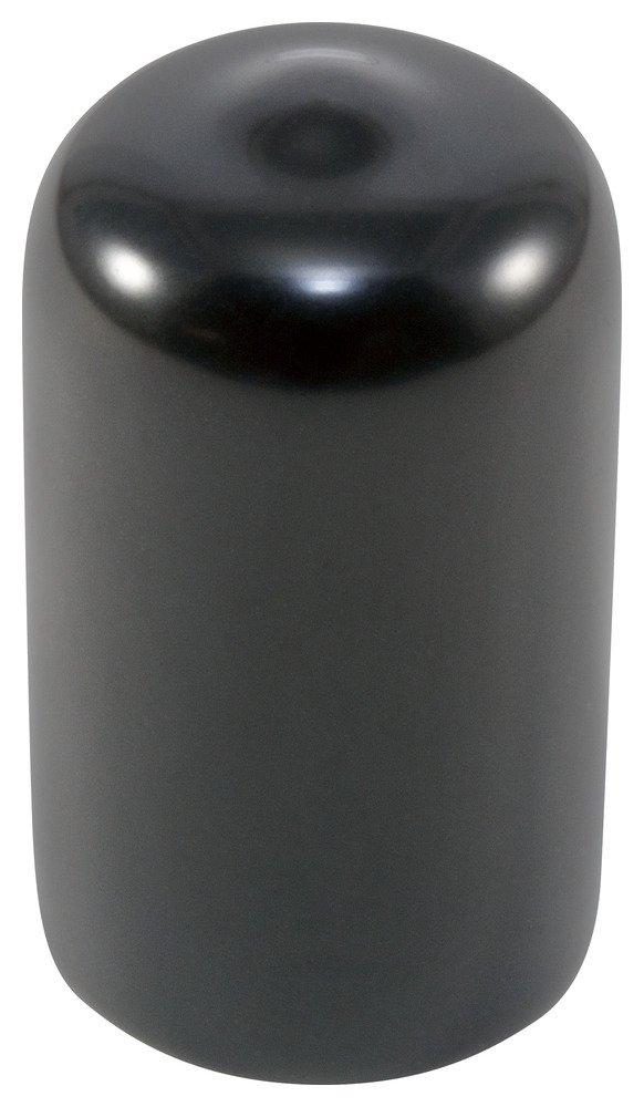 Caplugs 99390142 Plastic Round Cap VC-500-16, Vinyl, Cap ID 0.500'' Length 1.000'', Black (Pack of 50)