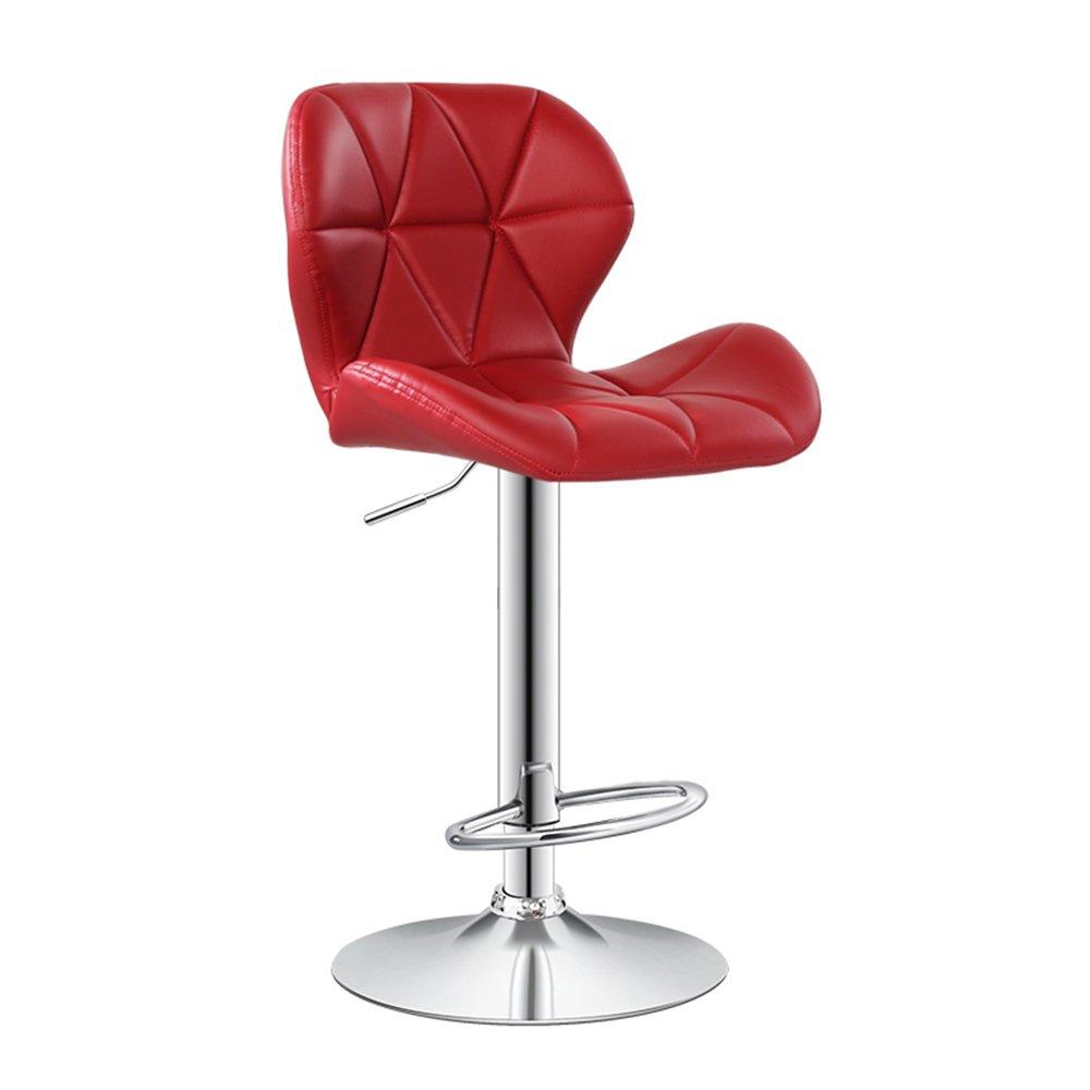 ブレックファストバースツールバック付きモダンキッチン朝食バースツールフェイクレザーステンレススチールバースツール新椅子 ( 色 : Red B ) B07BJGCH15 Red B Red B