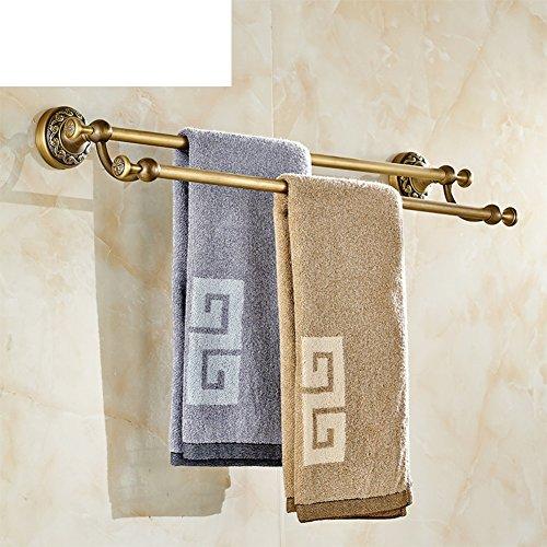 new Copper Towel Bar/European antique Towel Bar/Double towel rail/retro metal pendants/Towel hanger-A