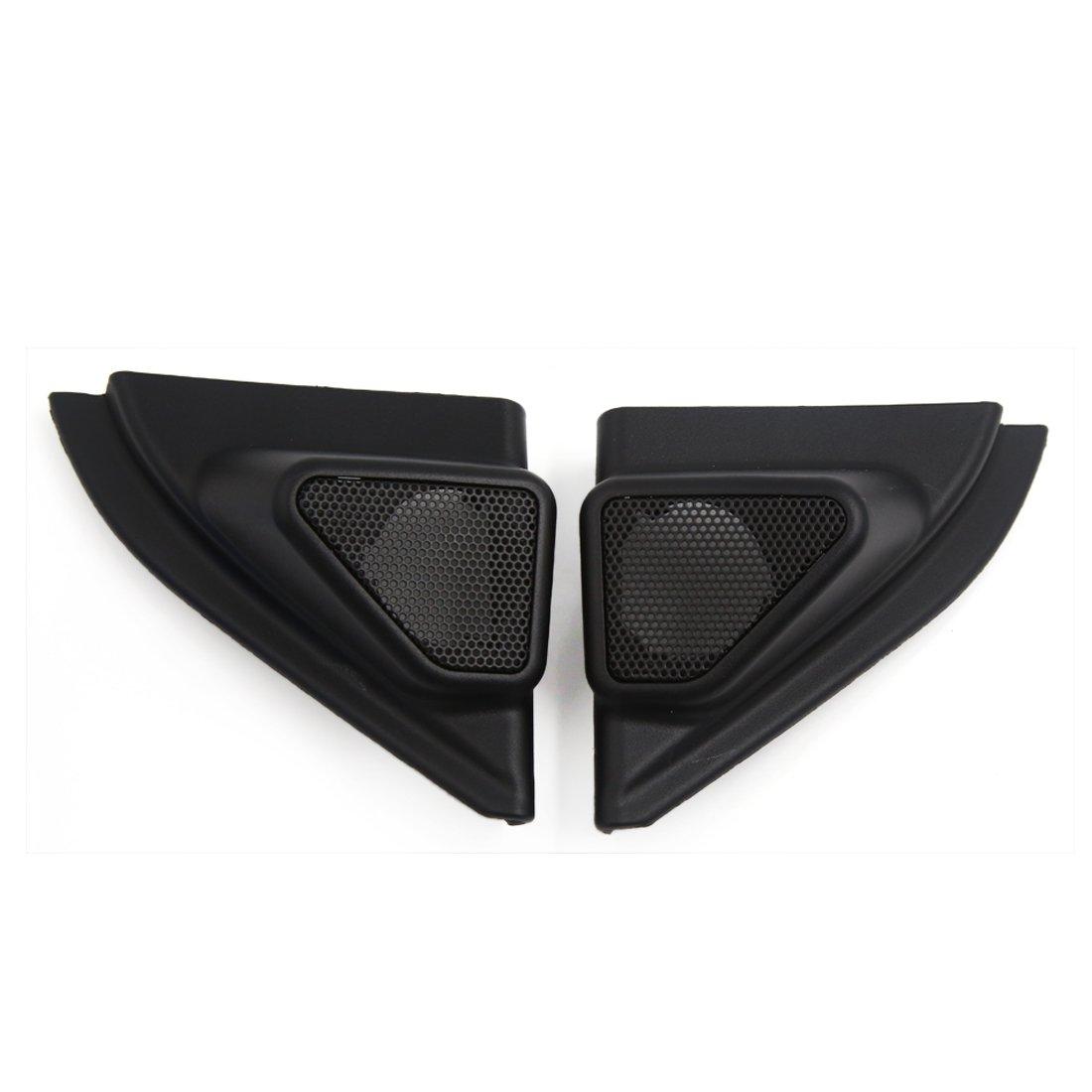 uxcell 2 Pcs Black Plastic Car Horn Trumpet Dustproof Cover for 2014 Toyota Corolla