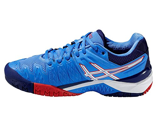 Asics Gel-resolution 6, Damen Tennisschuhe POWDER BLUE/WHITE/HI