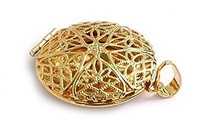 Amuleto/colgante de oro 18 K Se Abre Incluye Cadena ...