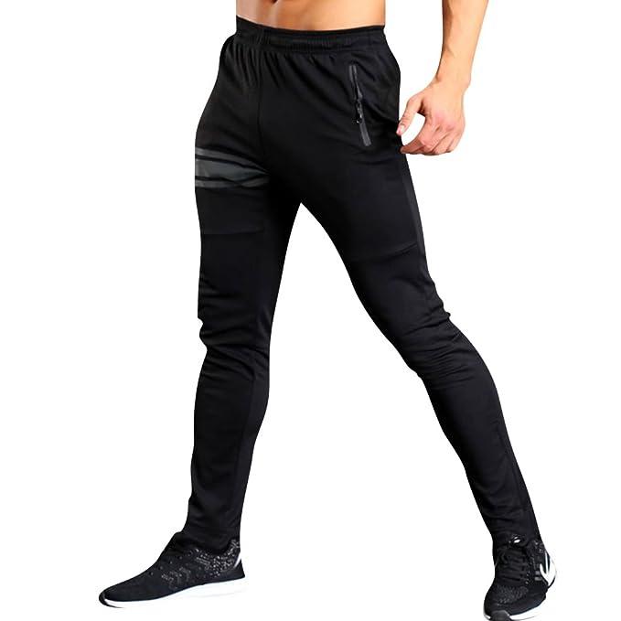 Hombre Chinos Jogger Pantalones Largos Deportivos Chándal Fitness ...