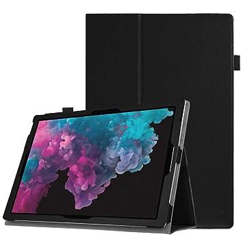Fintie Folio Funda para Microsoft Surface Pro 7 (2019)/Pro 6 (2018)/Pro 5/Pro 4/Pro 3 - Slim Fit Carcasa con Función de Soporte Compatible con Teclado ...