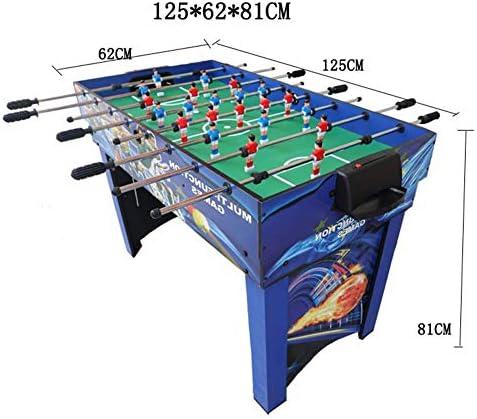 Tafelvoetbaltafel, combinatie speeltafel Compact 4-in-1 multi-game inclusief tafelvoetbal/biljart/hockey/tafeltennis voor volwassenen/kinderen